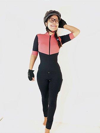 Conjunto Bike Black/Nude