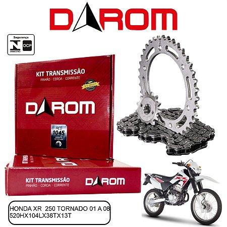 KIT TRANSMISSAO RELACAO DAROM HONDA TORNADO XR 250