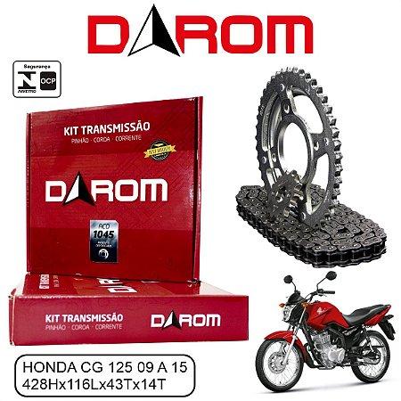 KIT TRANSMISSAO RELACAO DAROM HONDA CG 125 09 A 15