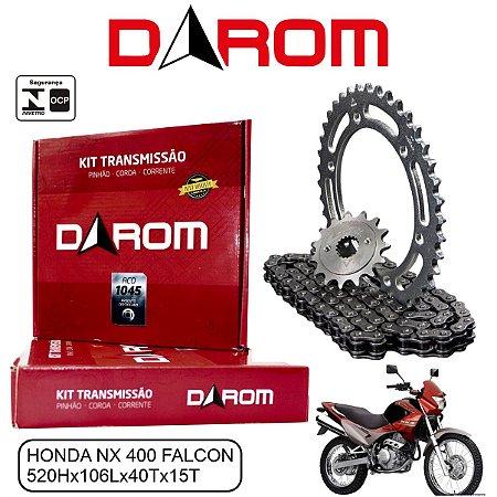 KIT TRANSMISSAO RELACAO DAROM HONDA NX 400 FALCON