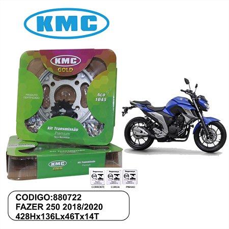 KIT TRANSMISSAO RELACAO HONDA KMC GOLD FAZER 250