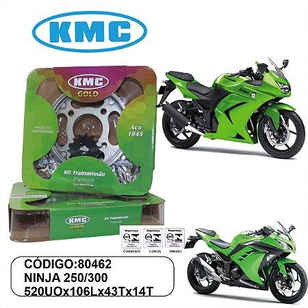 KIT TRANSMISSAO RELACAO KMC GOLD NINJA 250 300