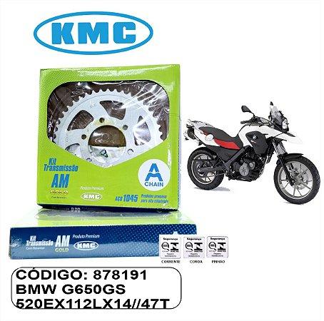 KIT TRANSMISSAO KMC GOLD  BMW G650 GS