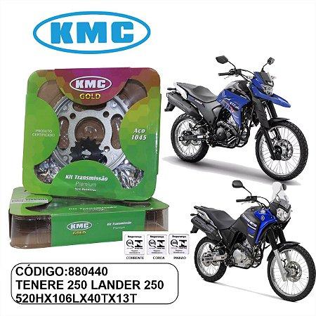 KIT TRANSMISSAO KMC GOLD TENERE 250 LANDER 250