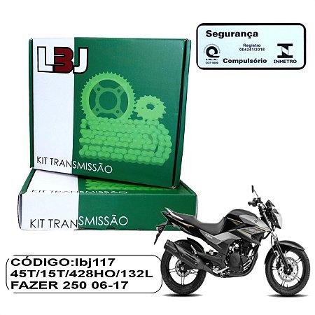 KIT TRANSMISSAO LBJ RELACAO FAZER 250 06-17 COM RETENTOR