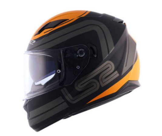 CAPACETE LS2 FF320 STREAM ORBITAL MATTE BLACK GRAY ORANGE