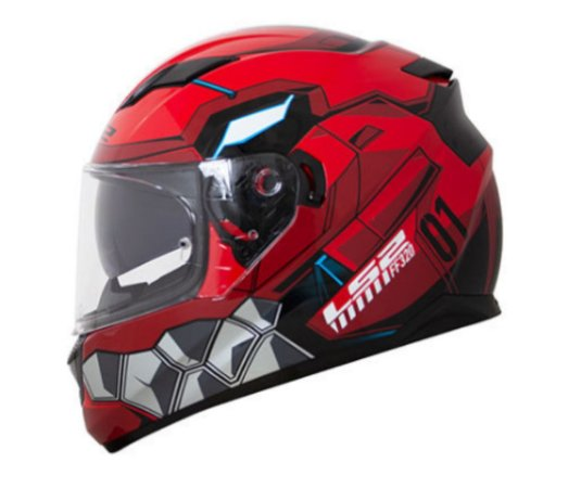Capacete LS2 FF320 Stream Angel Red