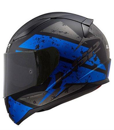 Capacete LS2 FF353 Rapid Deadbolt Matte Black Blue