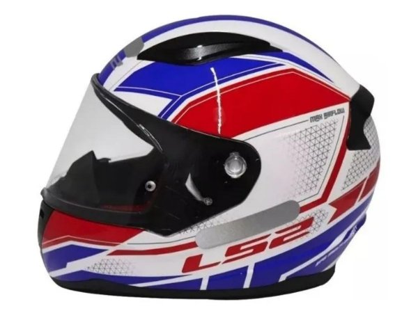 Capacete LS2 FF353 Rapid Infinity White Red Blue