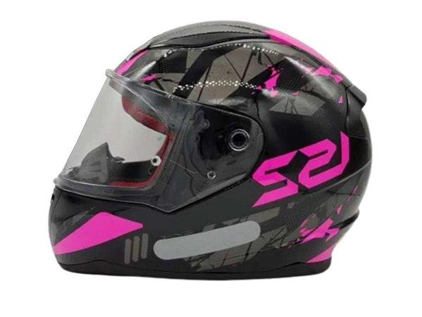 Capacete LS2 FF353 Rapid Palimnesis Black Pink