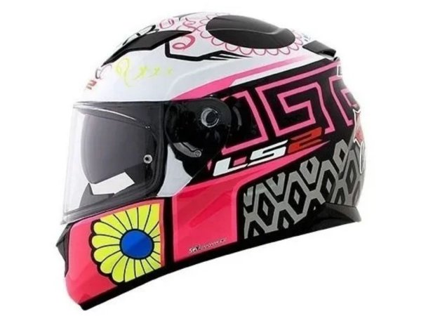 CAPACETE LS2 FF320 STREAM COUTURE WHITE/PINK