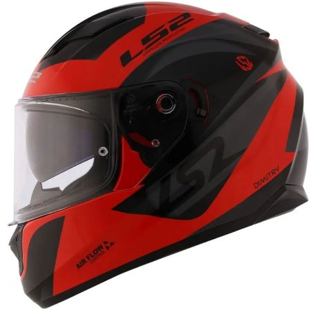 Capacete LS2 FF320 Stream Dimitry Red Grey Black