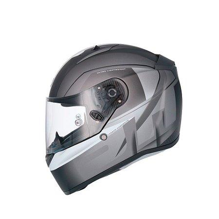Capacete Shiro Sh-336 Raiser Cinza Fosco