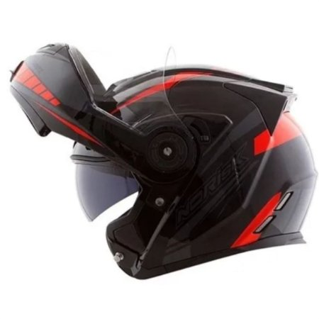 Capacete Norisk  FF345 Motion Black Grey Red