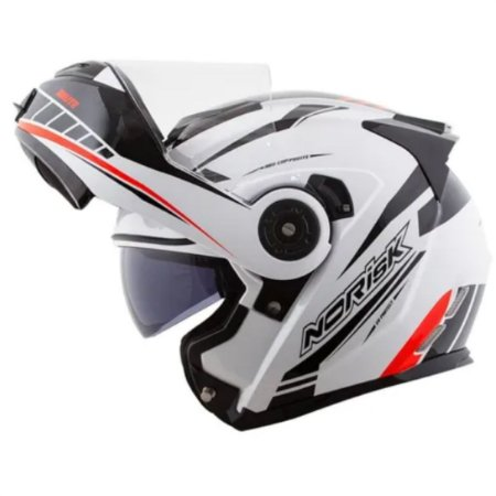 Capacete Norisk  FF345 Motion White Black Red