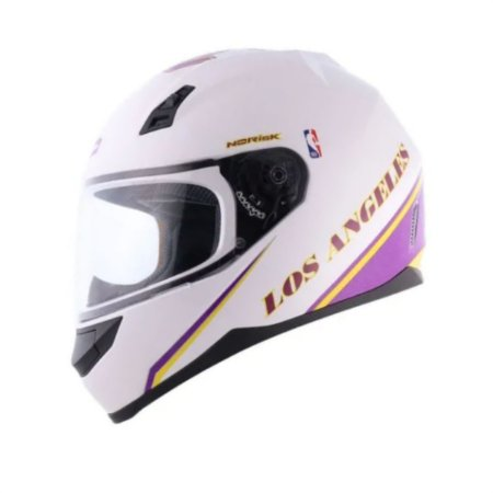 Capacete Norisk  FF391 NBA Los Angeles Lakers Branco