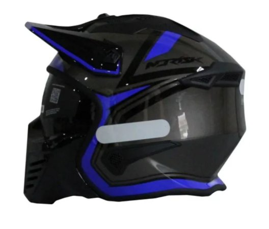 Capacete Norisk Darth Outline Titanium Blue