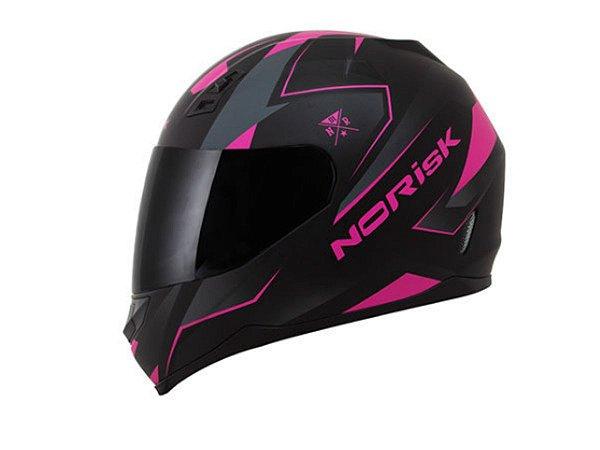 Capacete Norisk FF391 Stripes Matte Black Pink