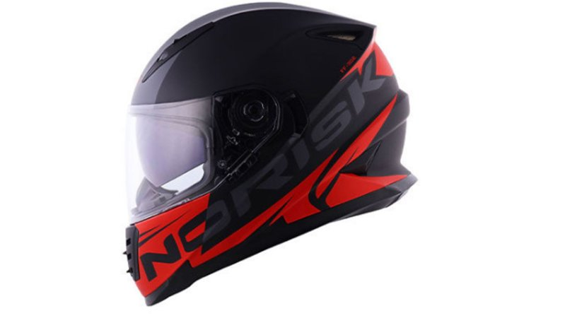 Capacete Norisk FF302 Manty Matte Black Red