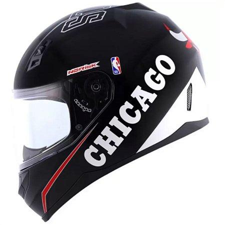 Capacete Norisk FF391 NBA Chicago Bulls Black