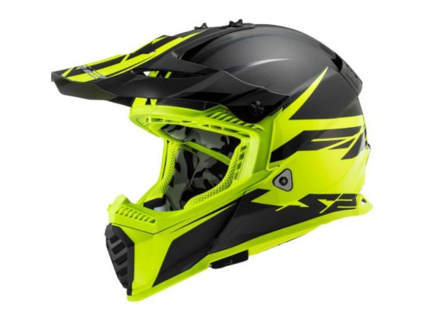 Capacete Ls2 MX437 Roar Matte BlackYellow