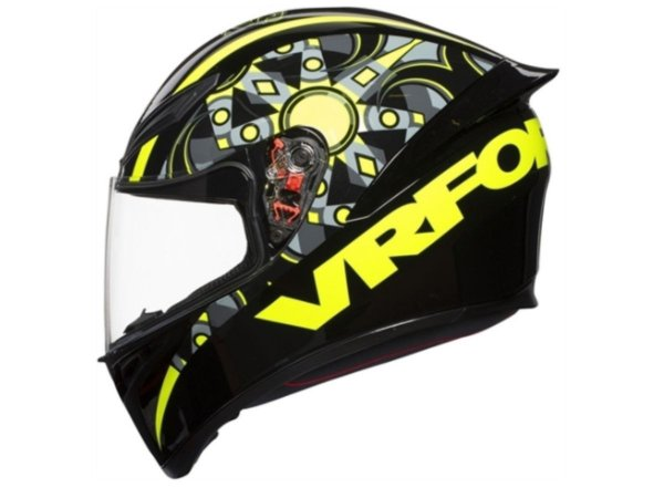 Capacete Agv Replica K1 Flavum 46 Black Yellow Fluo Grey