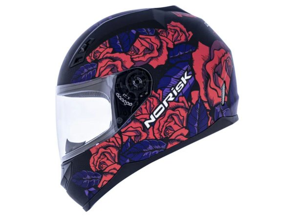 Capacete Norisk FF391 Bed Of Roses Matte Black Pink