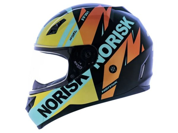 Capacete Norisk FF391 Forious Black Yellow Blue