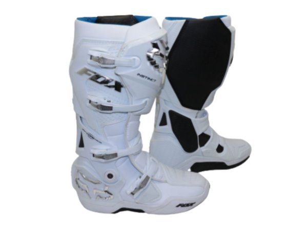 Bota Fox Mx Instinct White Silver