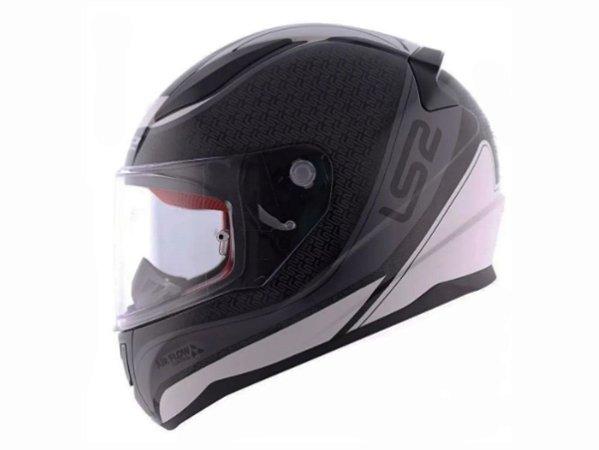 Capacete Ls2 FF353 Rapid Deeper White Black Grey