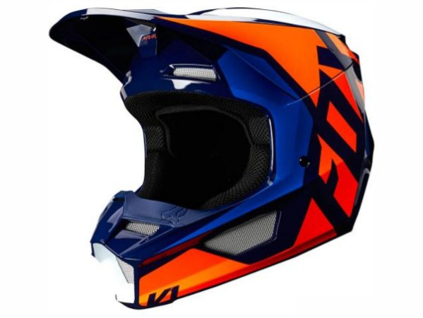 Capacete Fox MX V1 Mvrs Prix Orange Blue