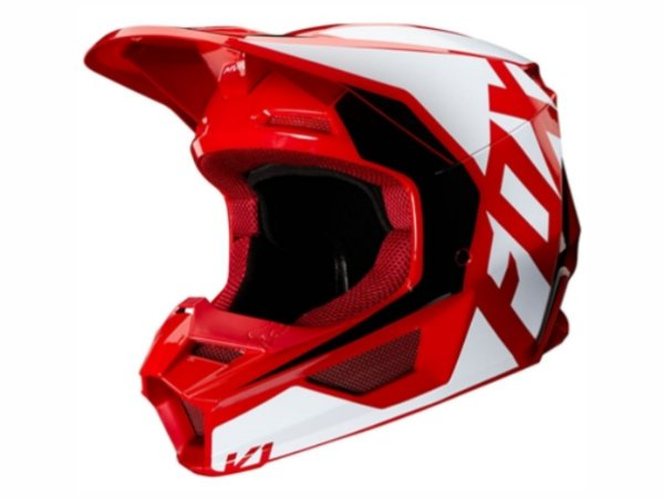Capacete Fox Mx V1 Mvrs Prix Flame Red