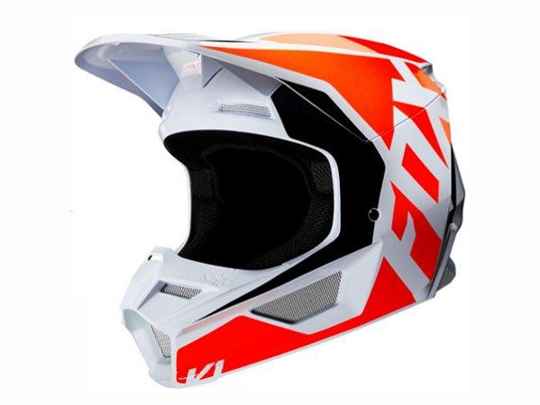 Capacete Fox Mx V1 Mvrs Prix Flo Orange