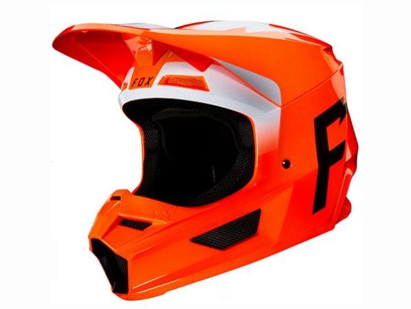 Capacete Fox Mx V1 Mvrs Werd Flo Orange