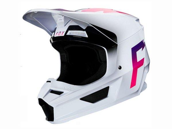 CAPACETE FOX MX V1 MVRS WERD WHITE