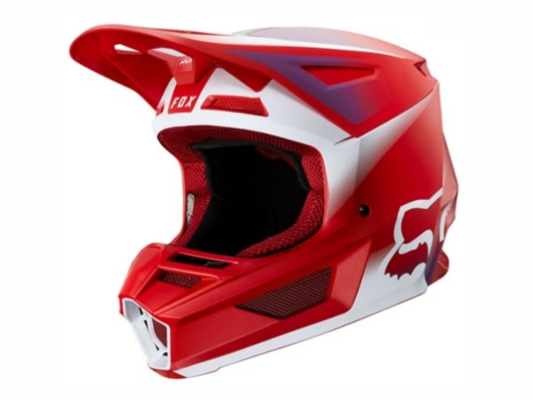 Capacete Fox Mx V2 Mvrs Vlar Flame Red