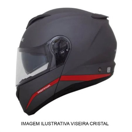 CAPACETE NORISK FORCE SIMPLICITY MATTE GRAY RED