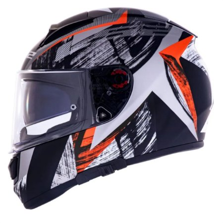 CAPACETE LS2 FF397 VECTOR EVO SCRATCH BLACK RED