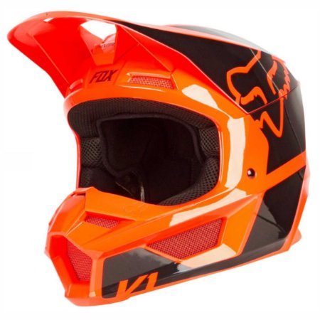 Capacete Fox Mx V1 Mips Revn Flo Orange