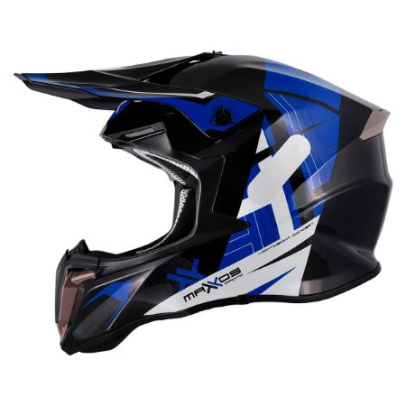 Capacete Mattos Racing Combat MMXIV Azul