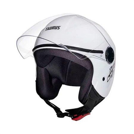 Capacete Moto  Taurus Joy23 Open  Face  Aberto Branco
