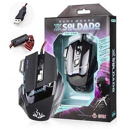 Mouse Gamer X-Soldado 3000 DPI USB- GM-700