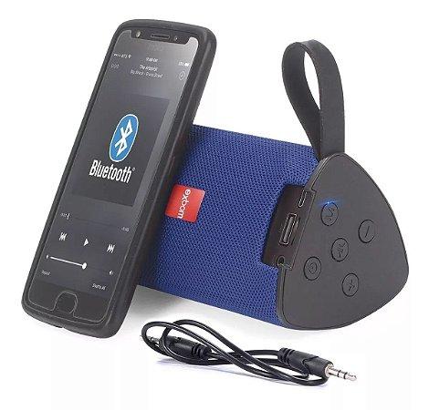 Caixa de Som Portátil Bluetooth Azul Exbom 03050 - CS-M33BT