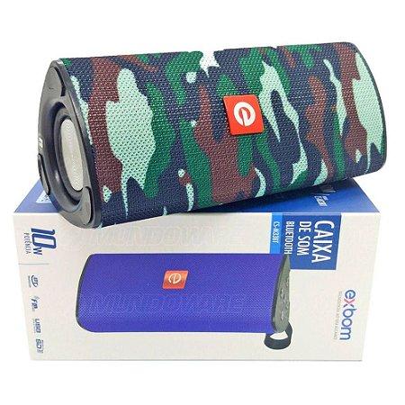 Caixa de Som Portátil Bluetooth Camuflado Exbom 03050 - CS-M33BT