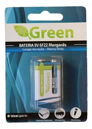 Bateria 9v Green Longa Duração Heavy Duty