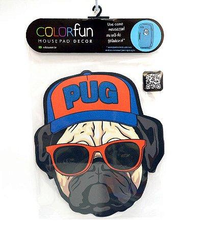 Mousepad Com Imã Geladeira Cachorro Pug Colorfun Decorativo