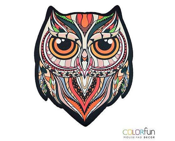 Mousepad Com Imã Geladeira Coruja Colorfun Decorativo