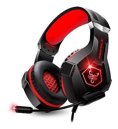 Headset Gamer Xsoldado Scorpion Led PS4/PC USB GH-X1000 - Vermelho