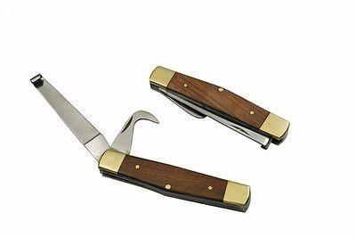 Canivete para limpeza de casco - faca + ponta cabo em madeira