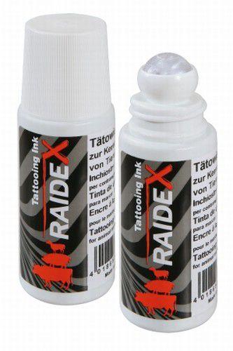 Tinta para tatuadeira cor preta roll-on 65 ml. - raidex